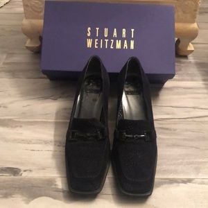 Stuart Weitzman Suede Navy Shoes 9.5 Mocamania